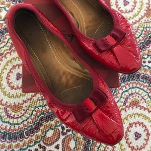 Authentic Salvatore Ferragamo My Joy Flats in Red